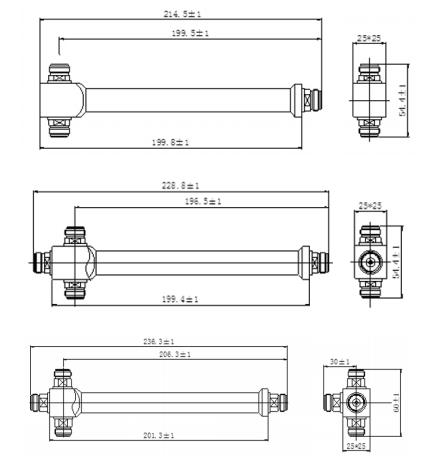 Bộ chia công suất đều Splitter 2,3,4 đường chính hãng Grentech